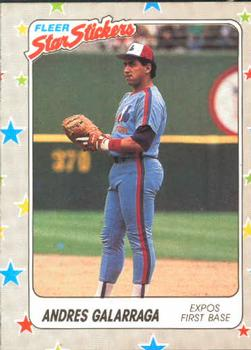 1988 Fleer Sticker Baseball Cards        096      Andres Galarraga