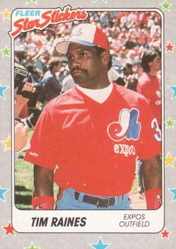 1988 Fleer Sticker Baseball Cards        097      Tim Raines