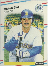 1988 Fleer Update Baseball Cards       059      Mario Diaz UER#{(Listed as Marion#{on card front)