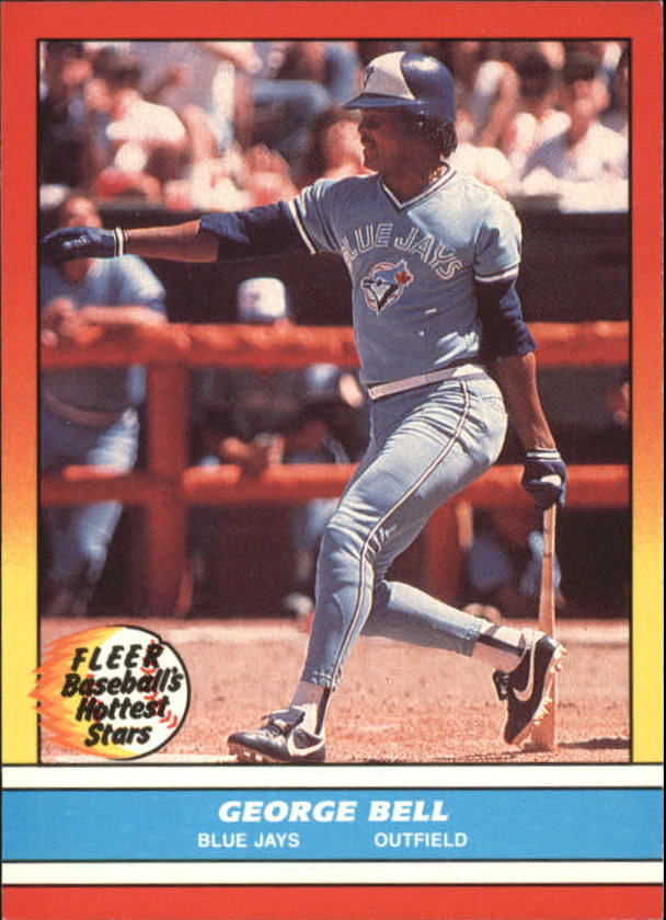 1988 Fleer Hottest Stars Baseball Cards        001      George Bell