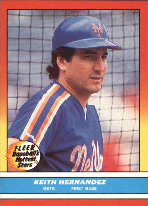1988 Fleer Hottest Stars Baseball Cards        017      Keith Hernandez