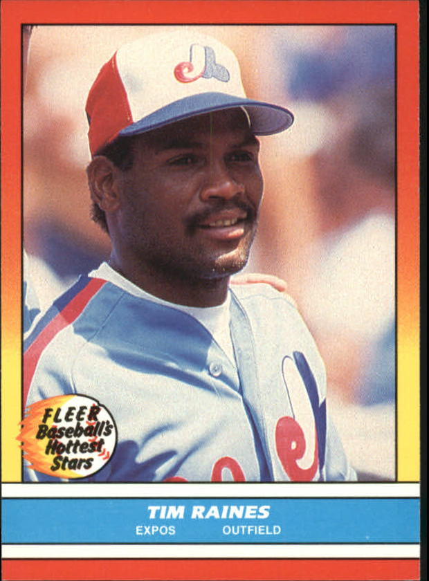 1988 Fleer Hottest Stars Baseball Cards        031      Tim Raines