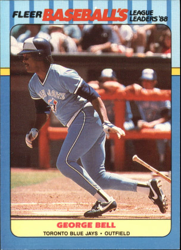 1988 Fleer League Leaders Baseball Cards       001      George Bell