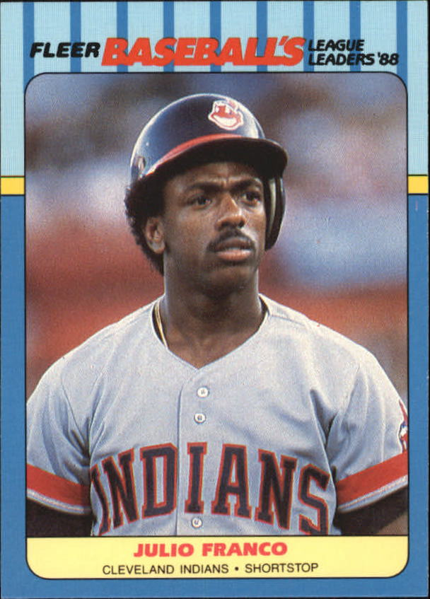 1988 Fleer League Leaders Baseball Cards       012      Julio Franco