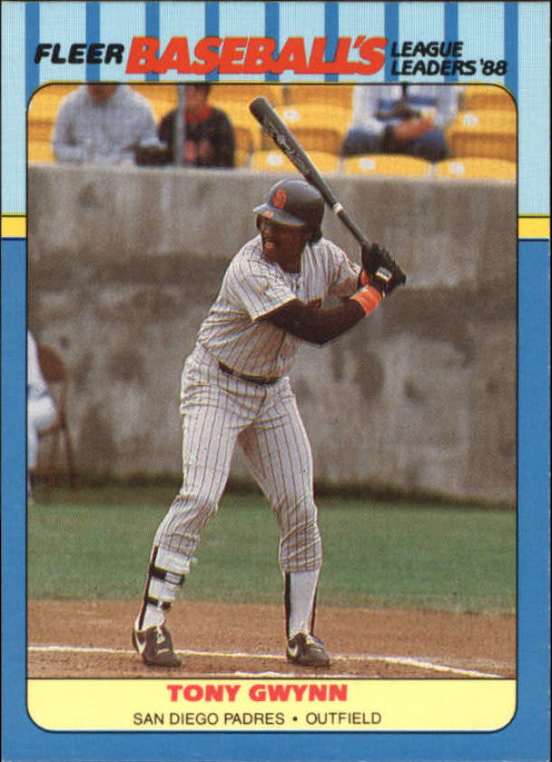 1988 Fleer League Leaders Baseball Cards       016      Tony Gwynn
