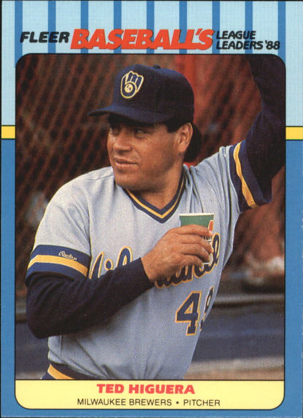 1988 Fleer League Leaders Baseball Cards       020      Ted Higuera