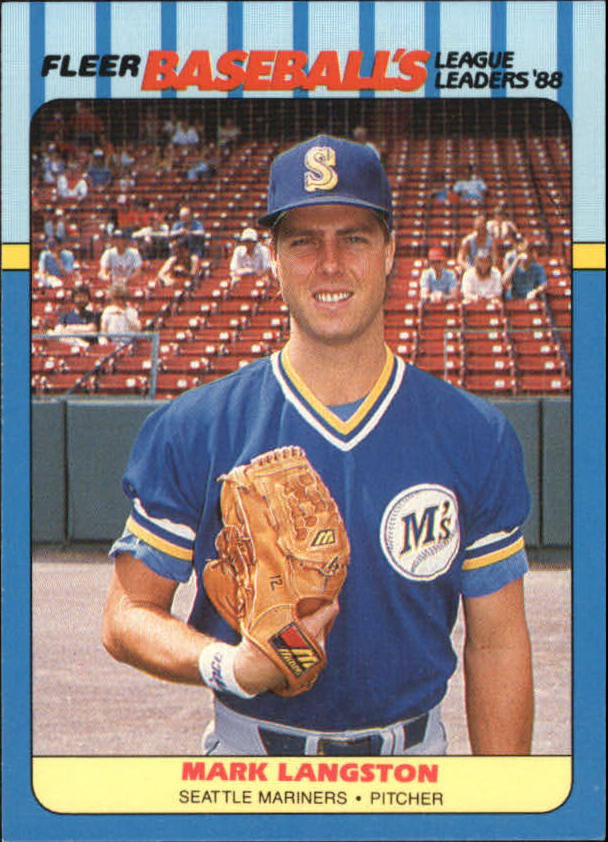 1988 Fleer League Leaders Baseball Cards       024      Mark Langston