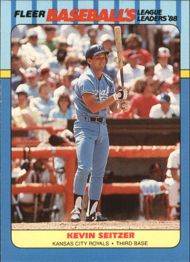 1988 Fleer League Leaders Baseball Cards       037      Kevin Seitzer