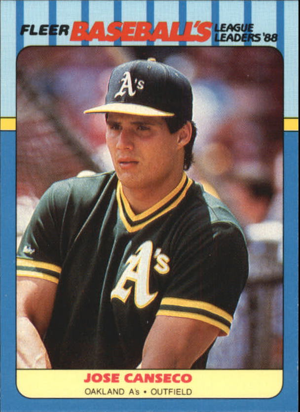 1988 Fleer League Leaders Baseball Cards       004      Jose Canseco