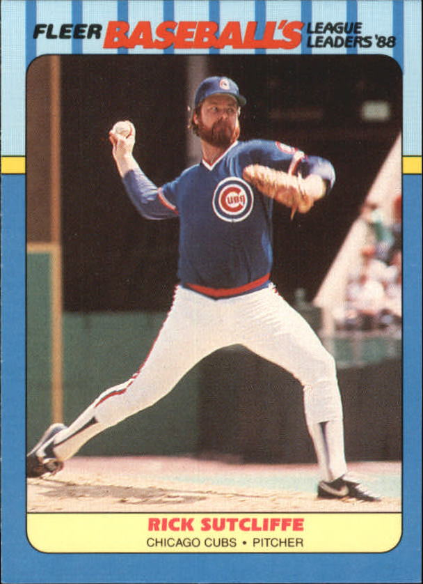 1988 Fleer League Leaders Baseball Cards       041      Rick Sutcliffe