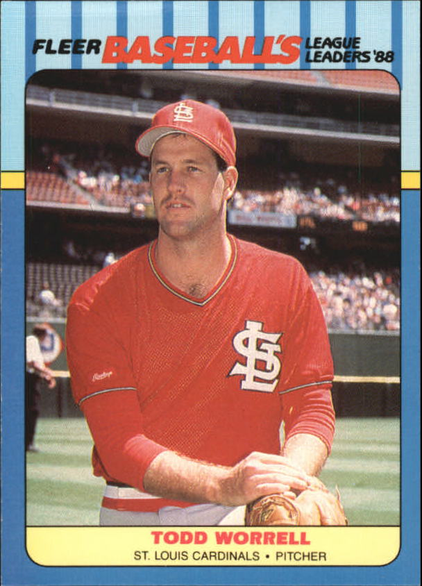 1988 Fleer League Leaders Baseball Cards       044      Todd Worrell