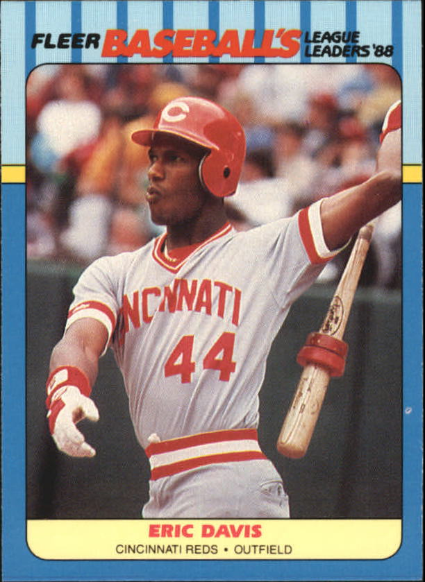 1988 Fleer League Leaders Baseball Cards       008      Eric Davis