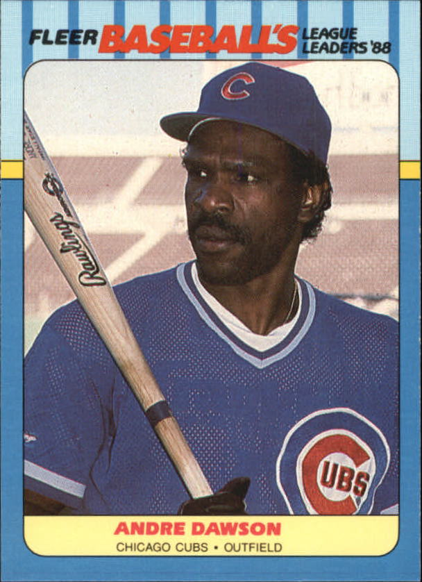 1988 Fleer League Leaders Baseball Cards       009      Andre Dawson
