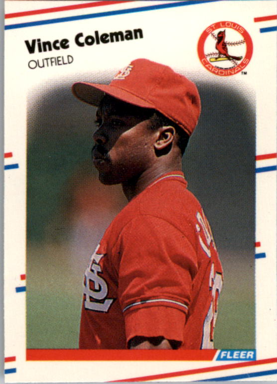 1988 Fleer Mini Baseball Cards 106     Vince Coleman
