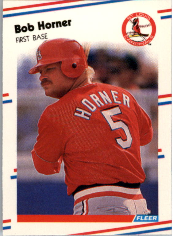 1988 Fleer Mini Baseball Cards 107     Bob Horner