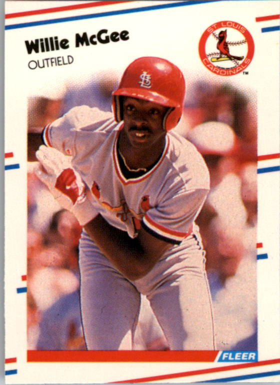 1988 Fleer Mini Baseball Cards 108     Willie McGee