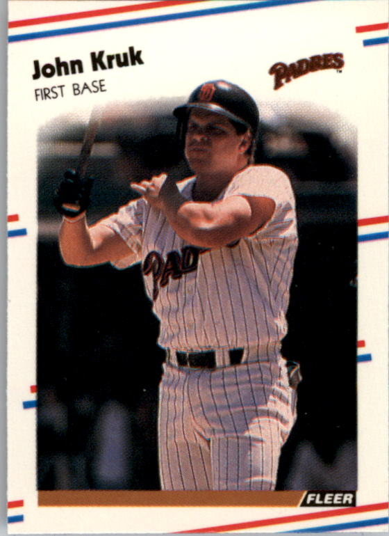 1988 Fleer Mini Baseball Cards 113     John Kruk