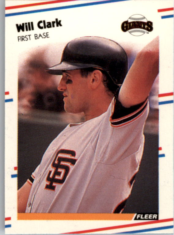 1988 Fleer Mini Baseball Cards 116     Will Clark