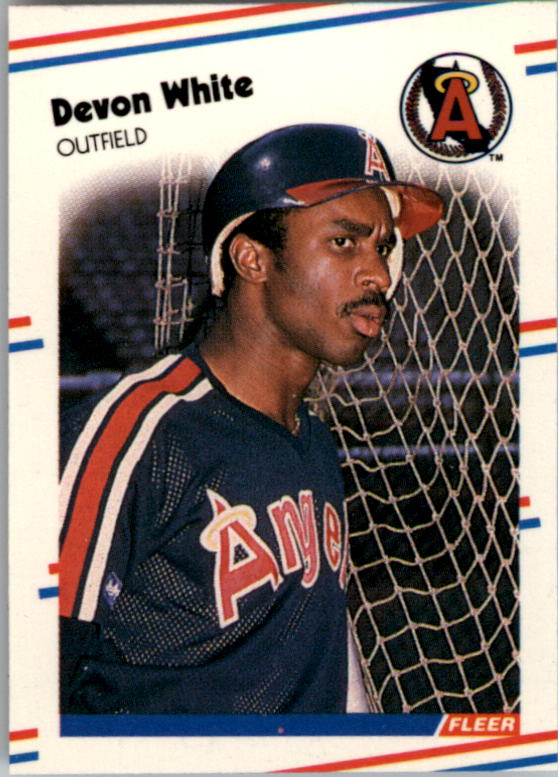 1988 Fleer Mini Baseball Cards 012      Devon White