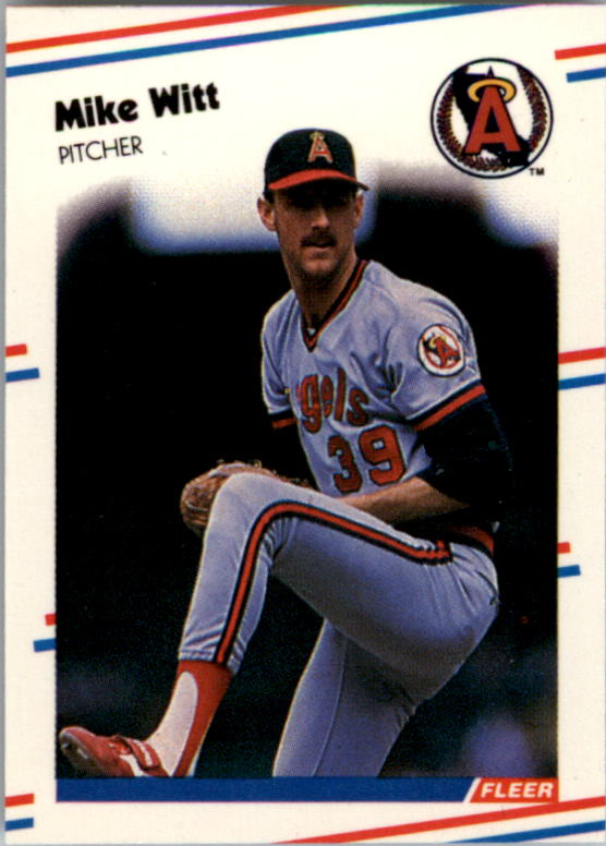 1988 Fleer Mini Baseball Cards 013      Mike Witt