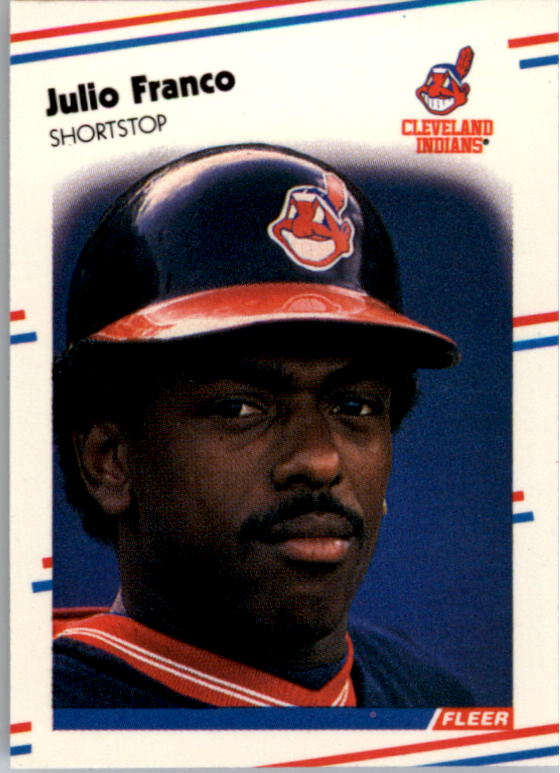 1988 Fleer Mini Baseball Cards 019      Julio Franco