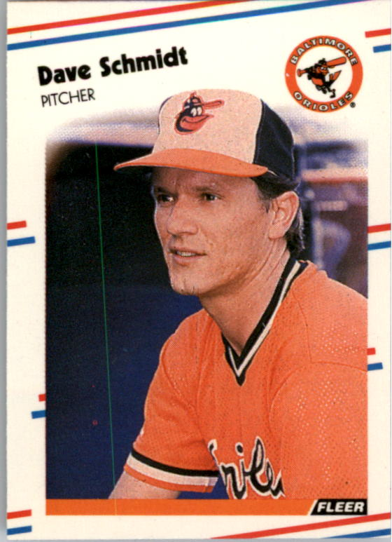1988 Fleer Mini Baseball Cards 002      Dave Schmidt