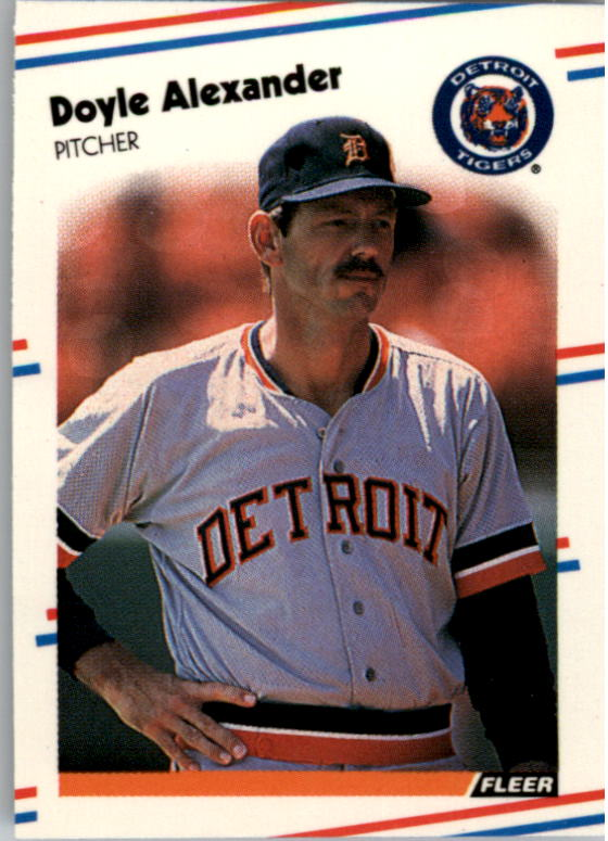 1988 Fleer Mini Baseball Cards 021      Doyle Alexander