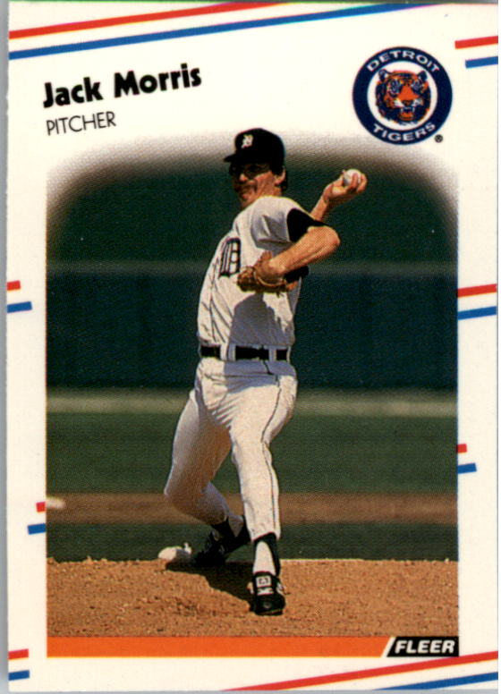 1988 Fleer Mini Baseball Cards 022      Jack Morris