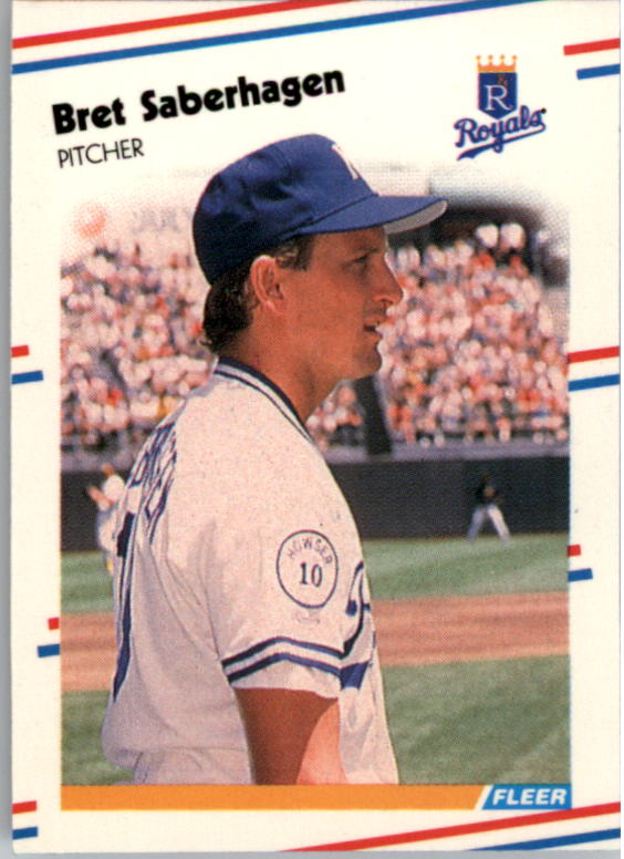1988 Fleer Mini Baseball Cards 026      Bret Saberhagen