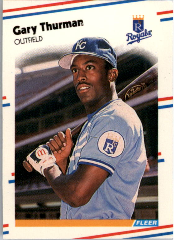 1988 Fleer Mini Baseball Cards 029      Gary Thurman