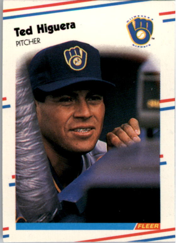 1988 Fleer Mini Baseball Cards 030      Ted Higuera