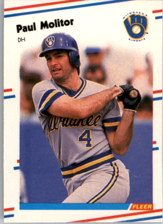 1988 Fleer Mini Baseball Cards 031      Paul Molitor