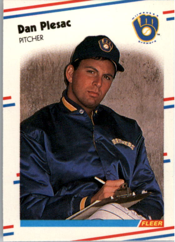 1988 Fleer Mini Baseball Cards 032      Dan Plesac