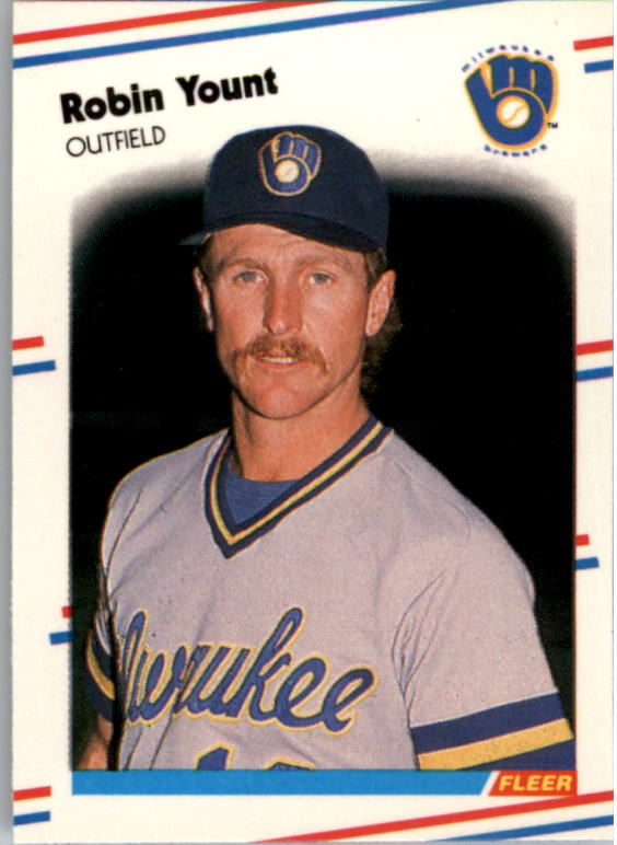 1988 Fleer Mini Baseball Cards 033      Robin Yount