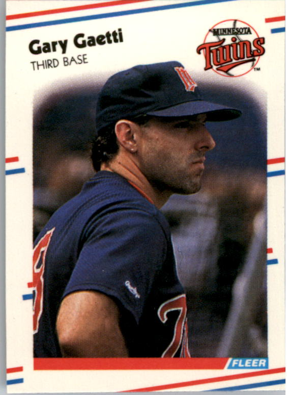 1988 Fleer Mini Baseball Cards 034      Gary Gaetti