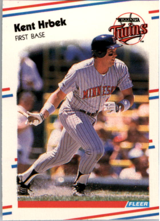 1988 Fleer Mini Baseball Cards 035      Kent Hrbek