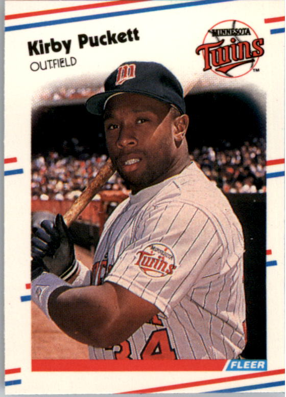 1988 Fleer Mini Baseball Cards 036      Kirby Puckett