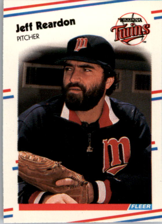 1988 Fleer Mini Baseball Cards 037      Jeff Reardon
