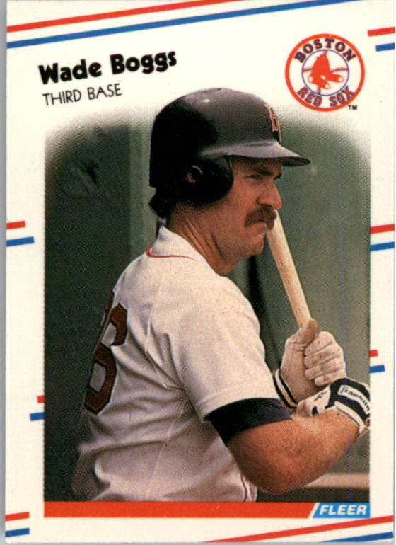 1988 Fleer Mini Baseball Cards 004      Wade Boggs