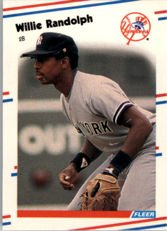 1988 Fleer Mini Baseball Cards 042      Willie Randolph