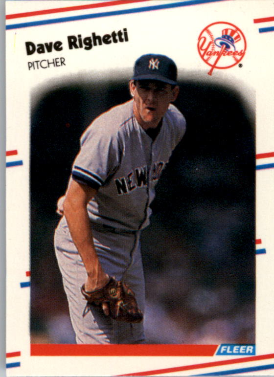1988 Fleer Mini Baseball Cards 043      Dave Righetti
