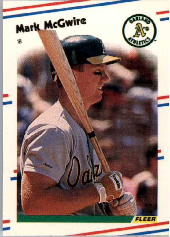 1988 Fleer Mini Baseball Cards 046      Mark McGwire