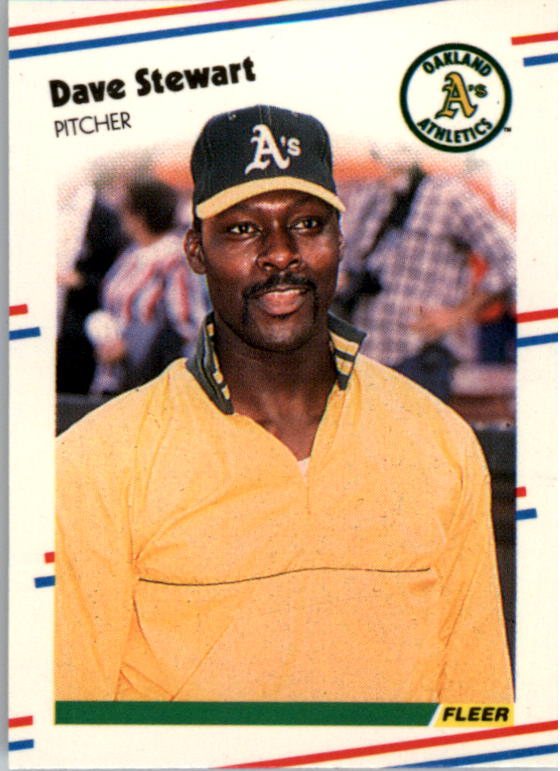 1988 Fleer Mini Baseball Cards 048      Dave Stewart