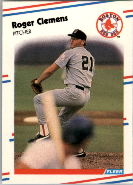 1988 Fleer Mini Baseball Cards 005      Roger Clemens