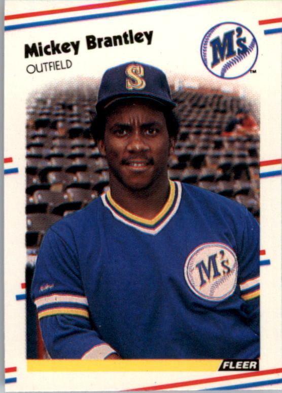 1988 Fleer Mini Baseball Cards 051      Mickey Brantley