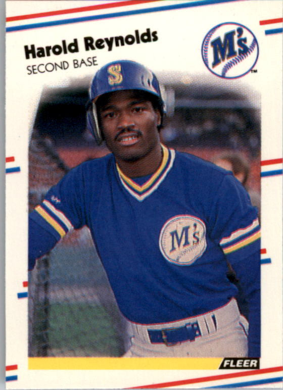 1988 Fleer Mini Baseball Cards 053      Harold Reynolds