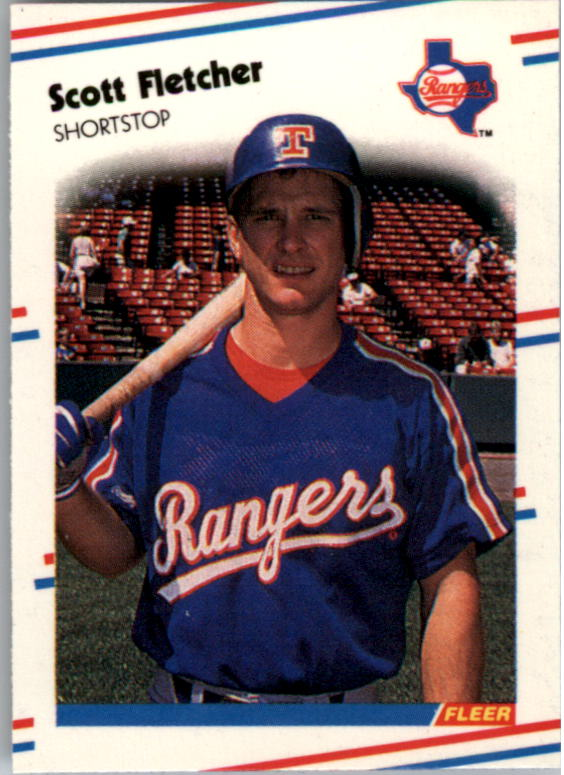 1988 Fleer Mini Baseball Cards 054      Scott Fletcher