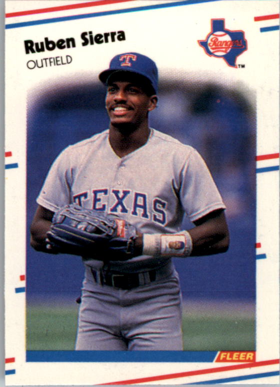 1988 Fleer Mini Baseball Cards 058      Ruben Sierra