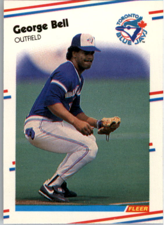 1988 Fleer Mini Baseball Cards 059      George Bell