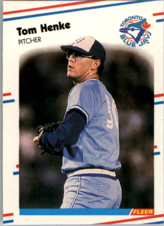 1988 Fleer Mini Baseball Cards 062      Tom Henke